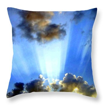 Throw Pillow featuring the digital art Photo Drama by Will Borden