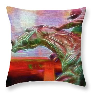 Photo Finish Throw Pillow