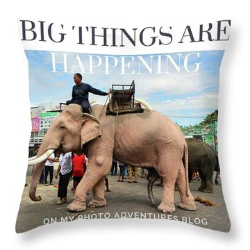 Throw Pillow featuring the photograph #photoadventure #travel #thailand by Mr Photojimsf