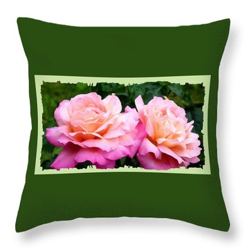 Throw Pillow featuring the photograph Photogenic Peace Roses by Will Borden