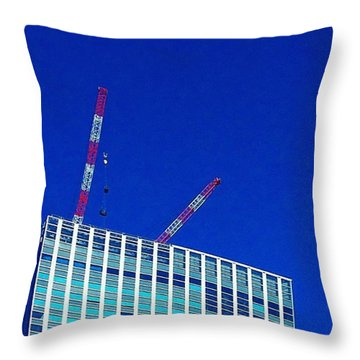 Photogragh Of Building And The Sky Throw Pillow