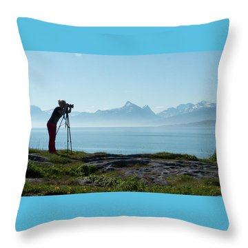 Photograph In Norway Throw Pillow