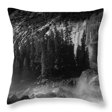 Photographer At Vernal Falls Throw Pillow