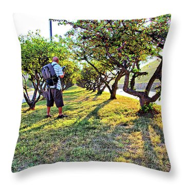 Throw Pillow featuring the photograph Photographer by Brian Wallace