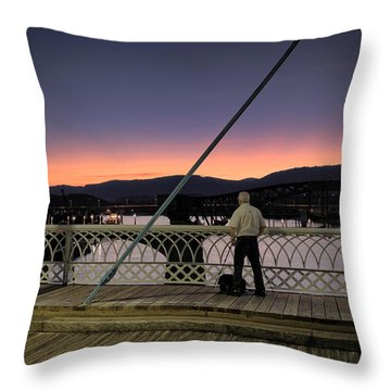 Photographing The Sunset Throw Pillow