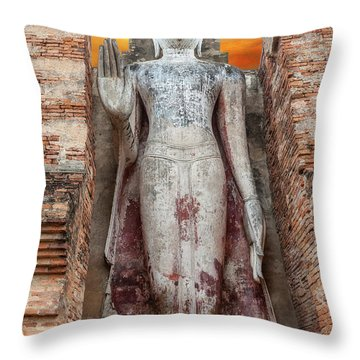 Throw Pillow featuring the photograph Phra Attharot Buddha by Adrian Evans