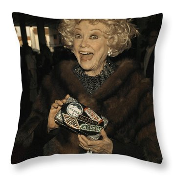 Phyllis Diller Throw Pillow by Nina Prommer