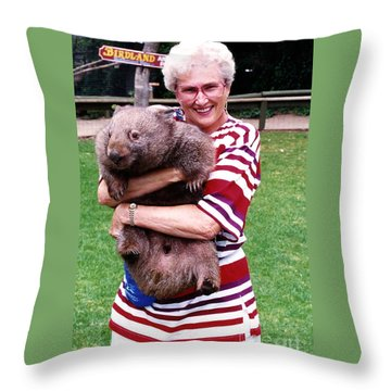 Phyllis Holding Thirty Lb Wombat Australia Throw Pillow