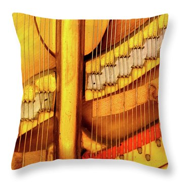 Piano 1 Throw Pillow by Rebecca Cozart