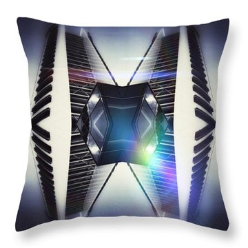 Piano Building Throw Pillow
