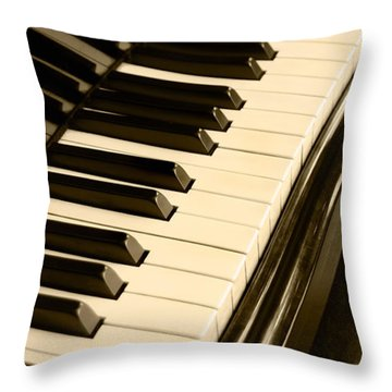 Piano Throw Pillow by Charuhas Images