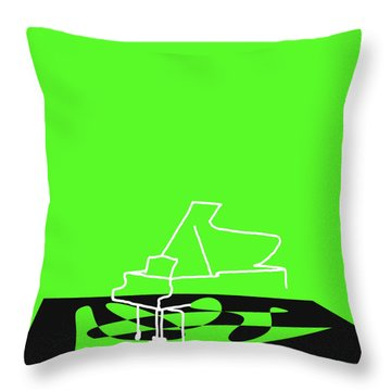 Throw Pillow featuring the digital art Piano In Green by Jazz DaBri