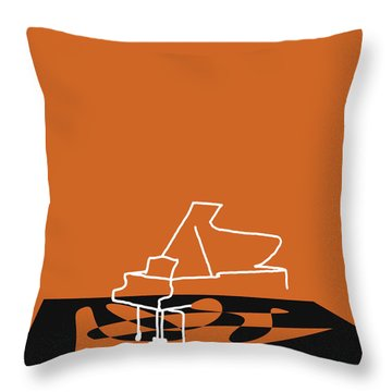 Throw Pillow featuring the digital art Piano In Orange by Jazz DaBri