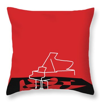 Throw Pillow featuring the digital art Piano In Red by Jazz DaBri