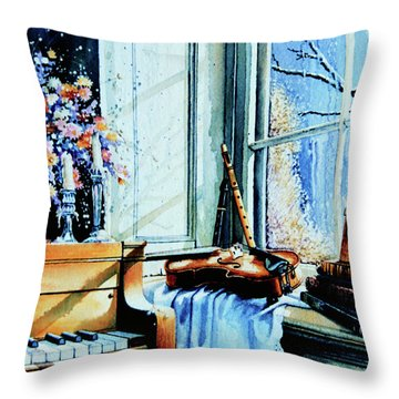 Piano In The Sun Throw Pillow by Hanne Lore Koehler