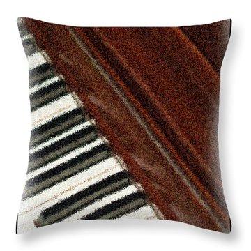 Piano Keys Throw Pillow by Carolyn Marshall