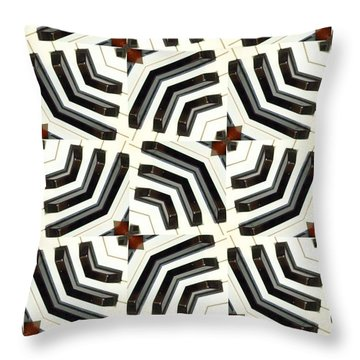 Piano Keys II Throw Pillow by Maria Watt