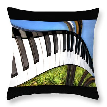 Throw Pillow featuring the photograph Piano Land by Paul Wear