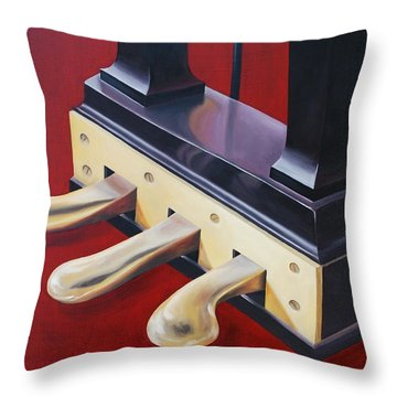 Piano Pedals Throw Pillow