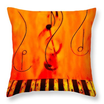 Piano Play Throw Pillow