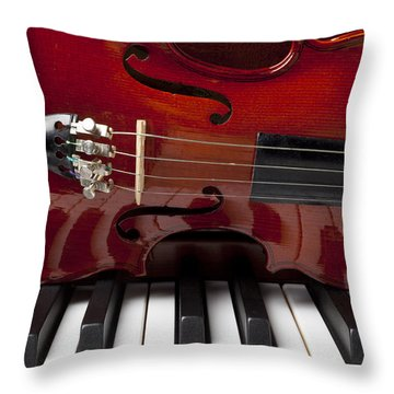 Piano Reflections Throw Pillow by Garry Gay
