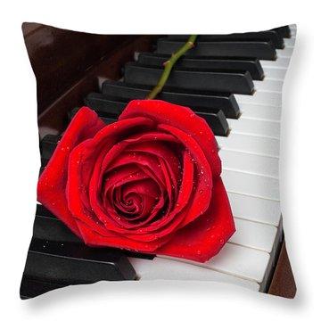 Piano Romance Throw Pillow