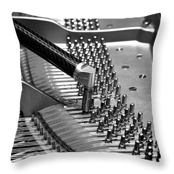 Piano Tuning Bw Throw Pillow