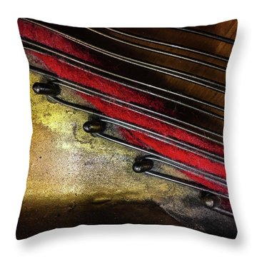 Piano Wire II Throw Pillow by Jae Mishra