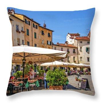 Piazza Anfiteatro Throw Pillow