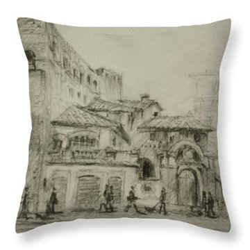 Piazza Fiume Rome Throw Pillow