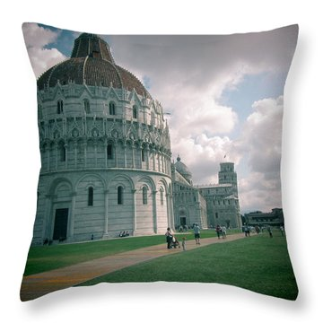 Piazza In Piza Throw Pillow