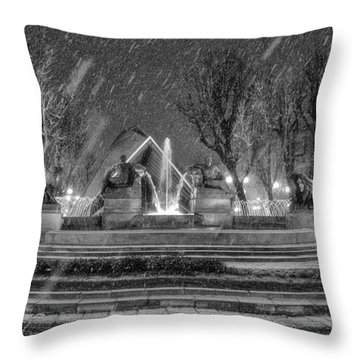 Piazza Solferino In Winter-1 Throw Pillow by Sonny Marcyan