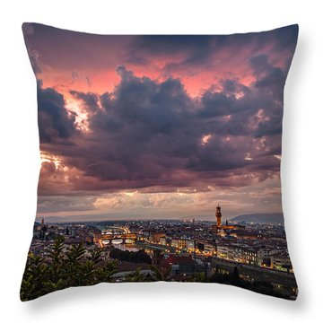 Piazzale Michelangelo Throw Pillow
