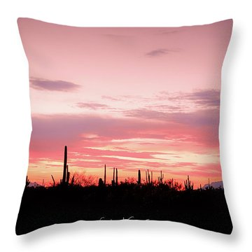 Picacho Sunset Throw Pillow