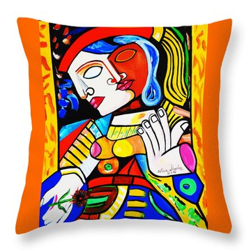 Picasso By Nora Turkish Man Throw Pillow