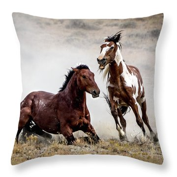 Picasso - Wild Stallion Battle Throw Pillow