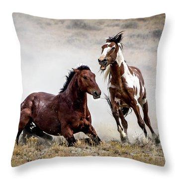 Picasso - Wild Stallion Battle Throw Pillow