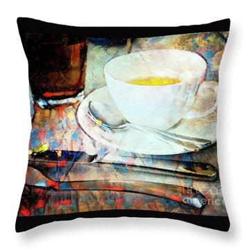 Throw Pillow featuring the photograph Picasso's Coffee by Craig J Satterlee