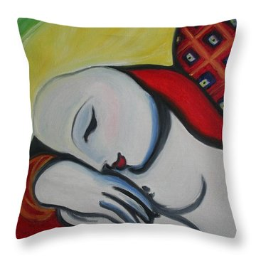 Picasso's Resting Angels Throw Pillow