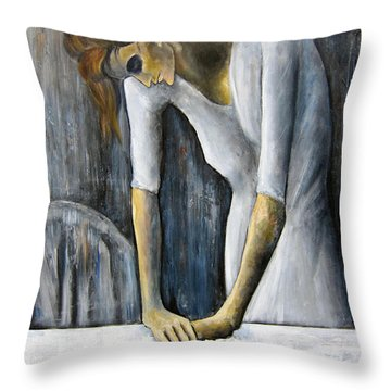 Picasso's Woman Ironing Throw Pillow