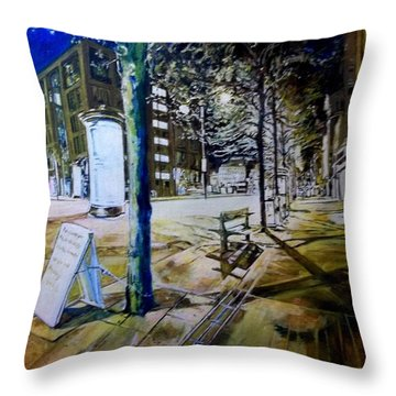 Piccadilly Gardens, Manchester Throw Pillow