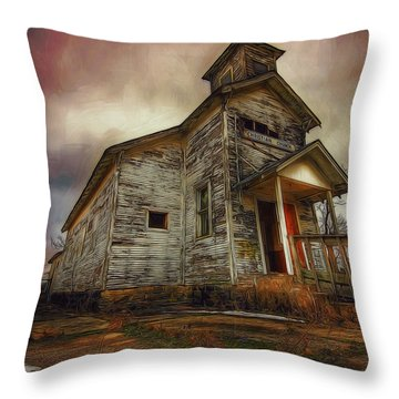 Picher Christian Church Throw Pillow