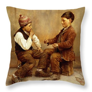 Pick A Hand, 1889 Throw Pillow