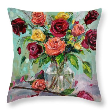 Throw Pillow featuring the painting Picked For You by Jennifer Beaudet