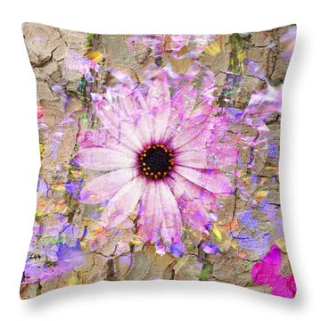 Pickin Wildflowers Throw Pillow