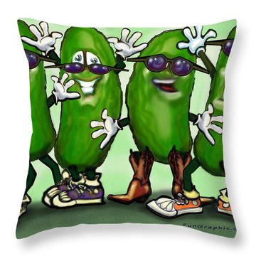 Pickle Party Throw Pillow