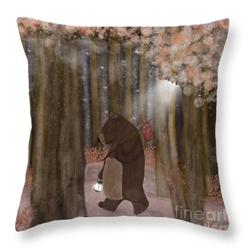 Pickle Wood Throw Pillow