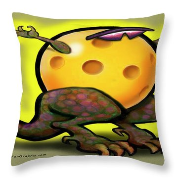Pickleball Beast Throw Pillow by Kevin Middleton