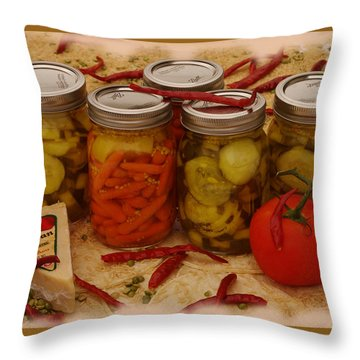 Pickled Still Life Throw Pillow