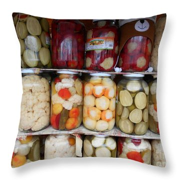 Pickles Anyone?  Throw Pillow